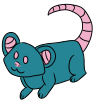 Teal Mouse