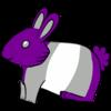 Gray Ace Bunny