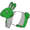 Gray Romantic Bunny