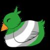 Gray Romantic Duckling